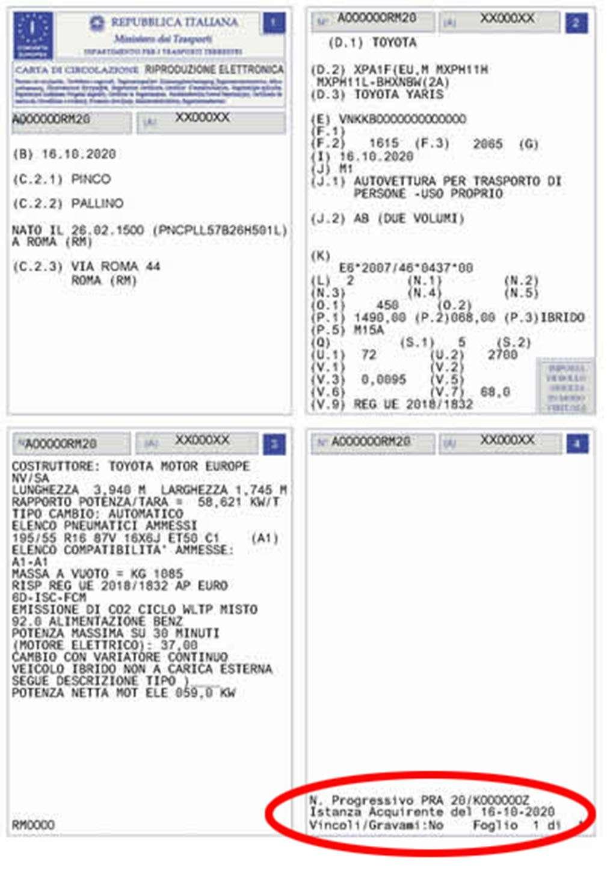 Documento Unico di Circolazione e di Prorpietà (DU)