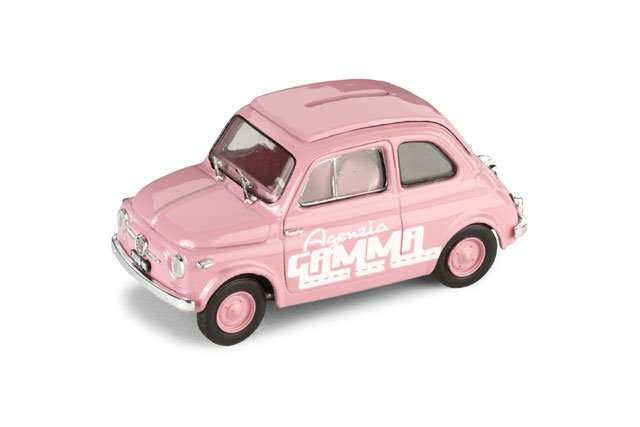 Fiat 500 - rosa - salvadanaio