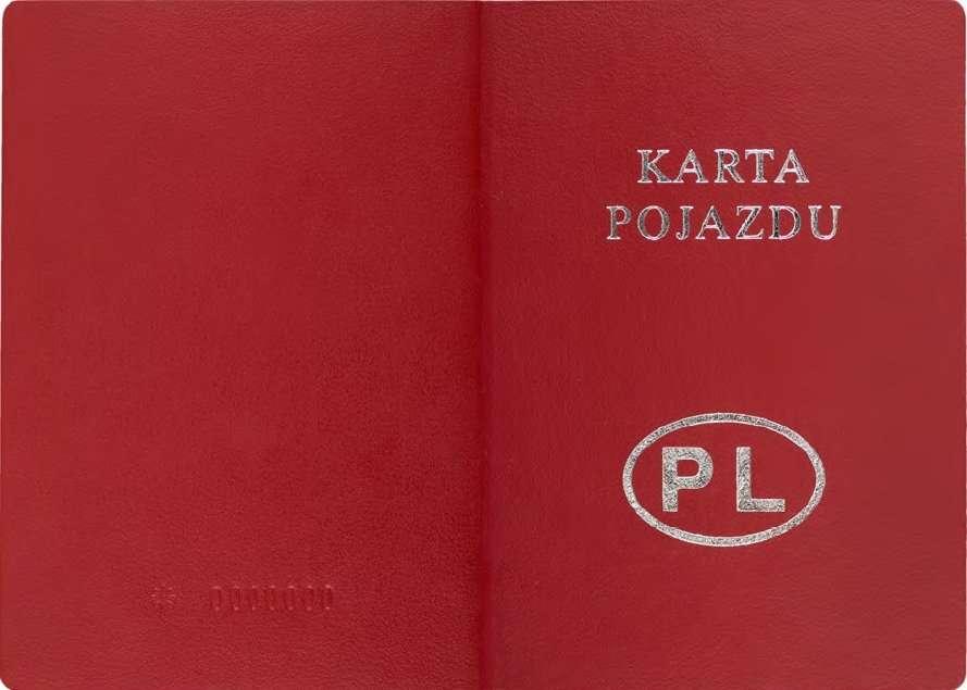 Carta di Circolazione - Polonia - Karty Pojazdu - Esterno